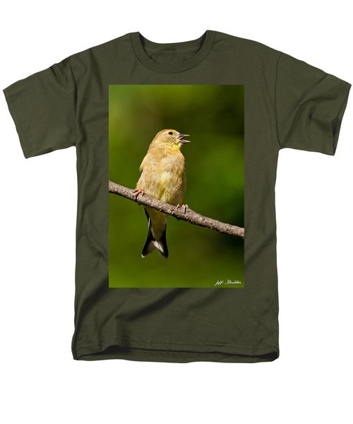 American Goldfinch Singing Men's T-Shirt  (Regular Fit) by Jeff Goulden