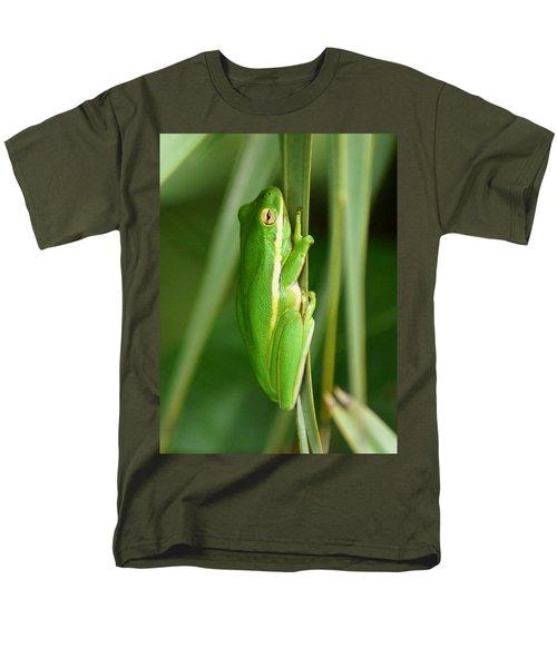 American Green Tree Frog Men's T-Shirt  (Regular Fit) by Kim Pate