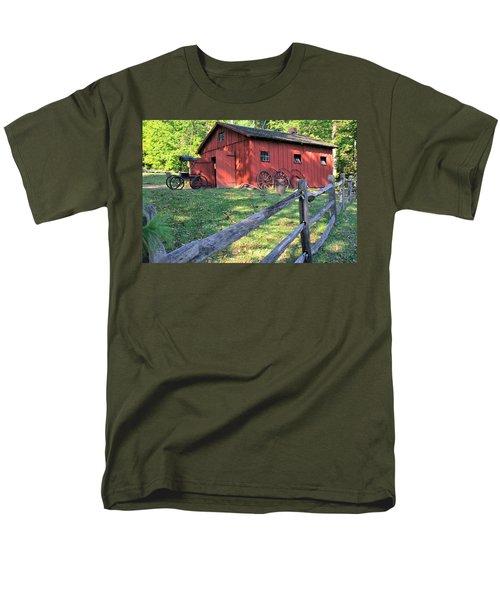Amish Barn Along A Fenceline Men's T-Shirt  (Regular Fit) by Gordon Elwell