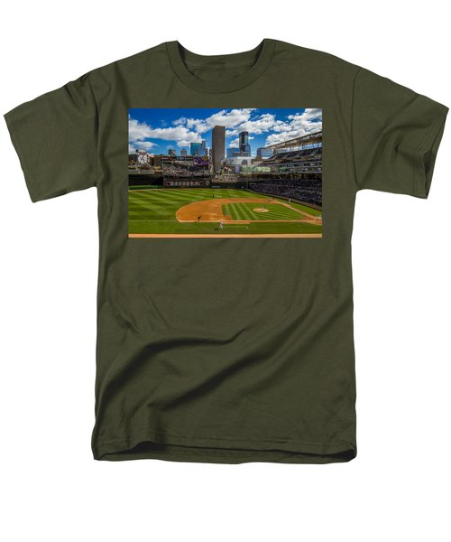 An Afternoon At Target Field Men's T-Shirt  (Regular Fit) by Tom Gort