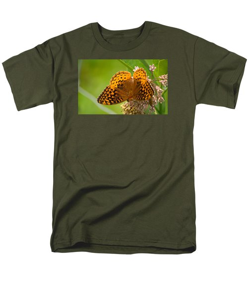 Men's T-Shirt  (Regular Fit) featuring the photograph Great Spangled Fritillary by Rima Biswas
