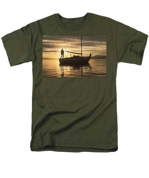 Men's T-Shirt  (Regular Fit) featuring the photograph Anchored by Mark Alan Perry