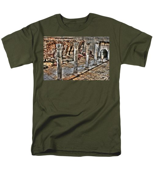 Men's T-Shirt  (Regular Fit) featuring the photograph Ancient Roman Columns In Israel by Doc Braham