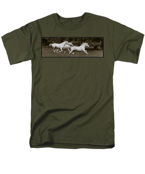 Men's T-Shirt  (Regular Fit) featuring the photograph And The Race Is On D5932 by Wes and Dotty Weber