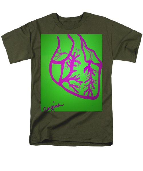 Men's T-Shirt  (Regular Fit) featuring the digital art Angina by Erika Chamberlin