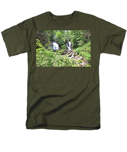 Anna Ruby Falls - Georgia - 1 Men's T-Shirt  (Regular Fit) by Gordon Elwell