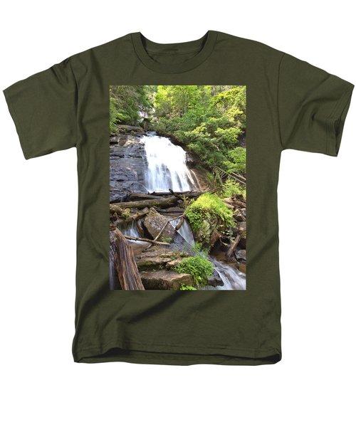 Anna Ruby Falls - Georgia - 4 Men's T-Shirt  (Regular Fit) by Gordon Elwell