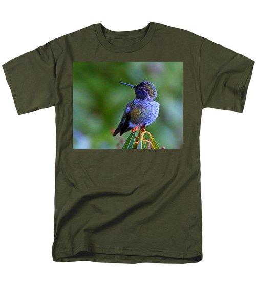 Annas Hummingbird Men's T-Shirt  (Regular Fit) by Randy Hall