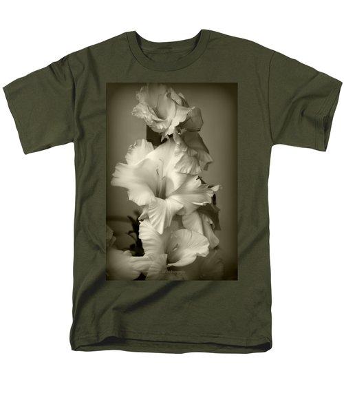 Antiqued Gladiolus Men's T-Shirt  (Regular Fit) by Jeanette C Landstrom