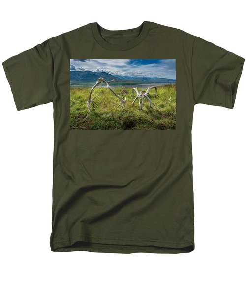Antlers On The Hill Men's T-Shirt  (Regular Fit) by Andrew Matwijec
