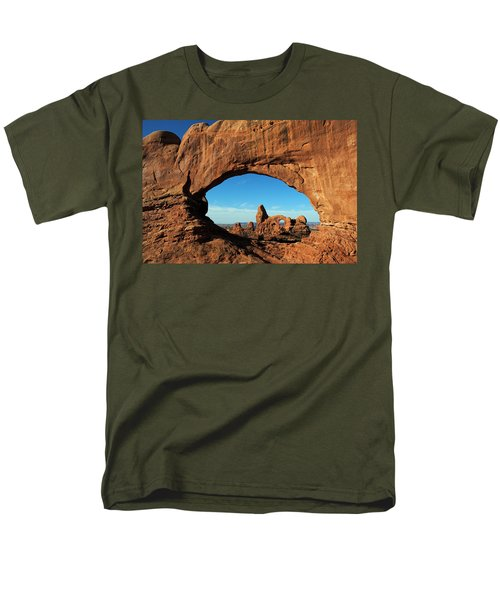 Men's T-Shirt  (Regular Fit) featuring the photograph Arches National Park 61 by Jeff Brunton