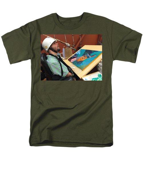 Artist Working Men's T-Shirt  (Regular Fit) by Donald J Ryker III