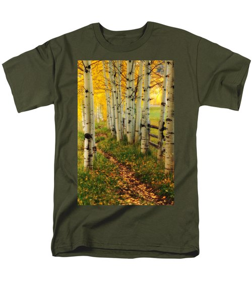 Aspen Path Men's T-Shirt  (Regular Fit) by Ronda Kimbrow
