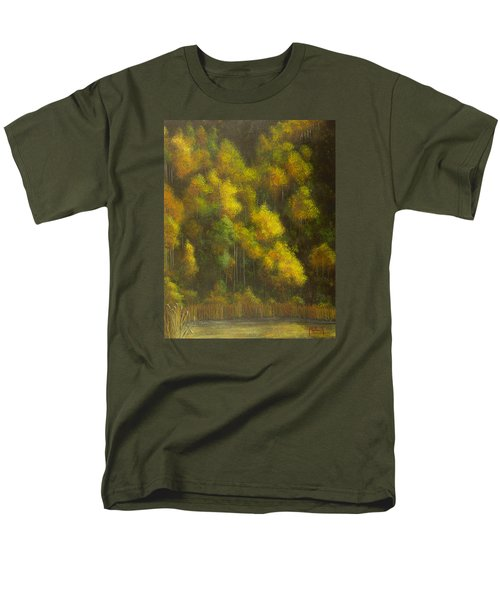 Aspens And Cattails Men's T-Shirt  (Regular Fit) by Jack Malloch