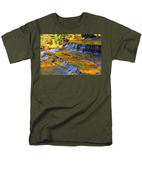 Au Train Falls Men's T-Shirt  (Regular Fit) by Terri Gostola