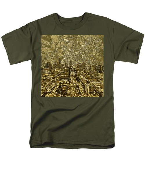Austin Texas Vintage Panorama Men's T-Shirt  (Regular Fit) by Bekim Art