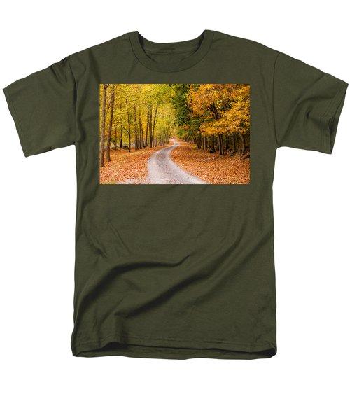 Autum Path Men's T-Shirt  (Regular Fit) by Melinda Ledsome