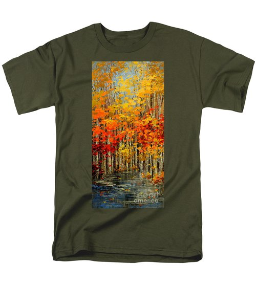 Men's T-Shirt  (Regular Fit) featuring the painting Autumn Banners by Tatiana Iliina