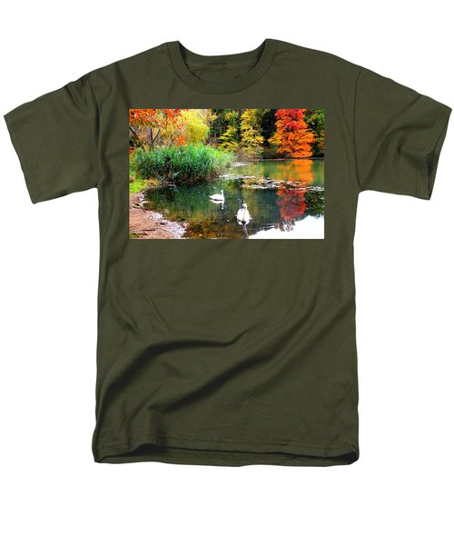 Autumn By The Swan Lake Men's T-Shirt  (Regular Fit) by Dora Sofia Caputo Photographic Art and Design
