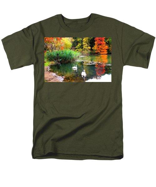Autumn By The Swan Lake Men's T-Shirt  (Regular Fit)