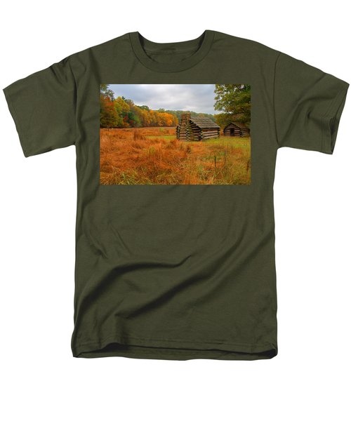 Autumn Foliage In Valley Forge Men's T-Shirt  (Regular Fit) by Michael Porchik