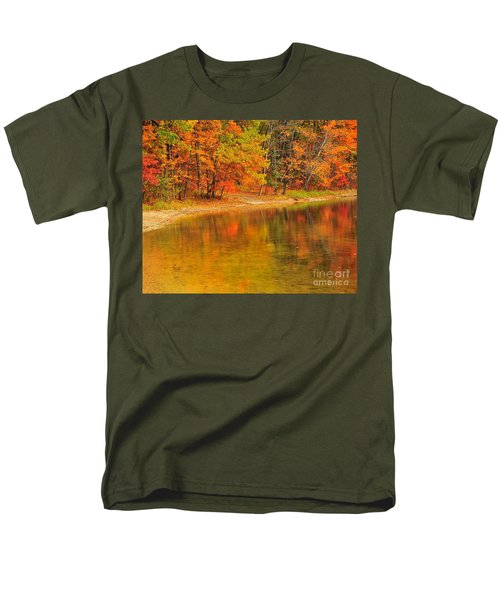 Autumn Forest Reflection Men's T-Shirt  (Regular Fit) by Terri Gostola