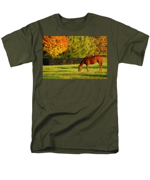 Men's T-Shirt  (Regular Fit) featuring the photograph Autumn Grazing by James Kirkikis