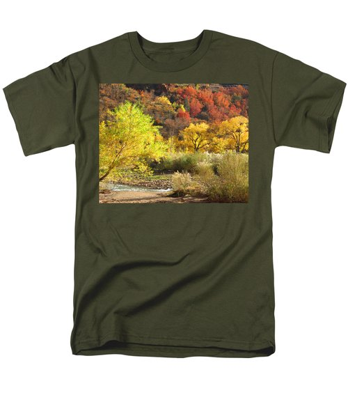 Autumn In Zion Men's T-Shirt  (Regular Fit) by Alan Socolik