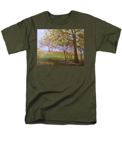 Men's T-Shirt  (Regular Fit) featuring the painting Autumn Leaves by Mary Wolf
