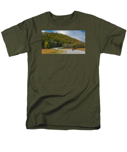 Autumn Motorcycle Rider / Orange Men's T-Shirt  (Regular Fit) by Patti Deters