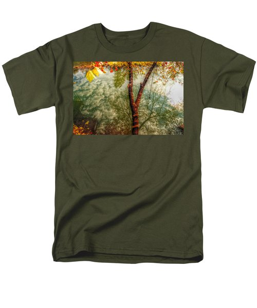Men's T-Shirt  (Regular Fit) featuring the photograph Autumn Reflection  by Peggy Franz