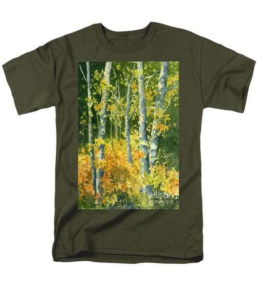 Men's T-Shirt  (Regular Fit) featuring the painting Autumn Woods by Lynne Wright