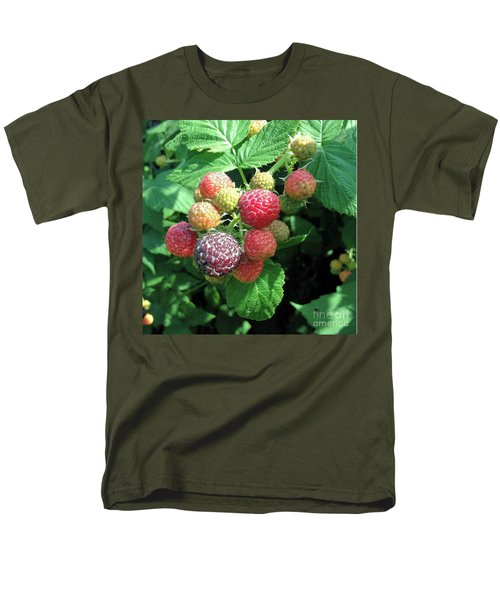 Men's T-Shirt  (Regular Fit) featuring the photograph Fruit- Black Raspberries - Luther Fine Art by Luther Fine Art