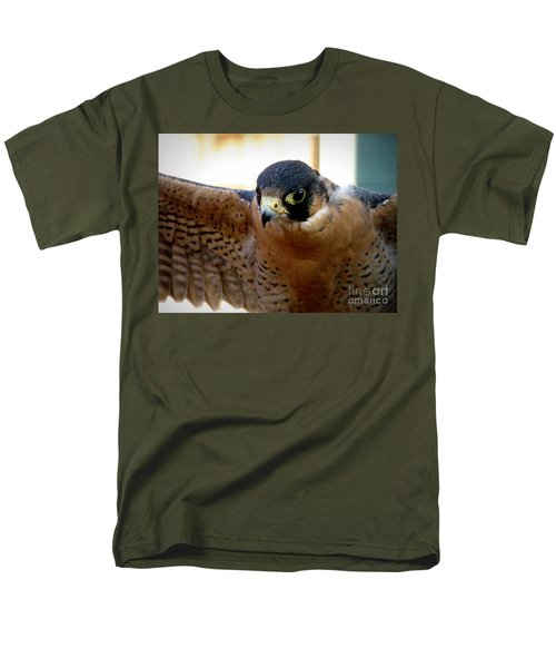 Barbary Falcon Wings Stretched Men's T-Shirt  (Regular Fit) by Lainie Wrightson