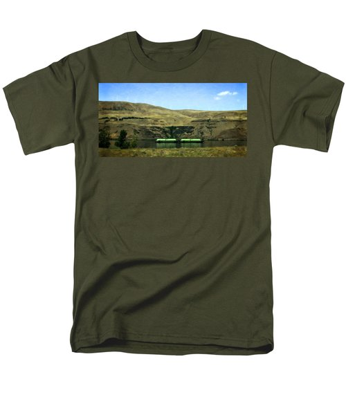 Barges On The Columbia Men's T-Shirt  (Regular Fit) by Michelle Calkins
