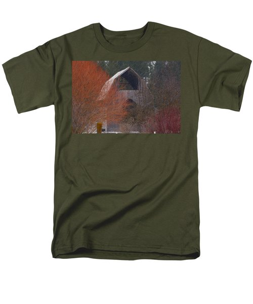 Barn Off Daisy Mine Road  Men's T-Shirt  (Regular Fit) by Loni Collins