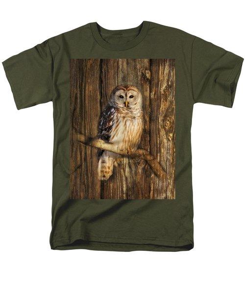 Barred Owl 1 Men's T-Shirt  (Regular Fit) by Lori Deiter