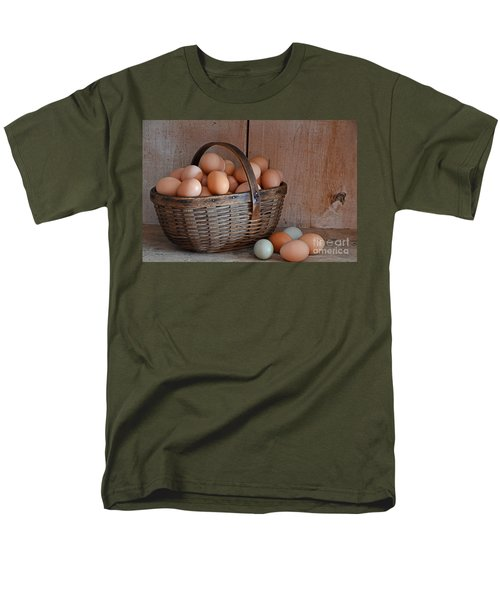 Basket Full Of Eggs Men's T-Shirt  (Regular Fit) by Mary Carol Story