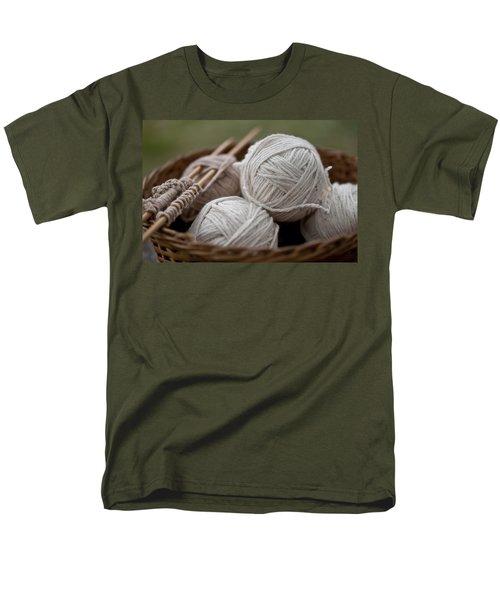 Basket Of Yarn Men's T-Shirt  (Regular Fit) by Wilma  Birdwell