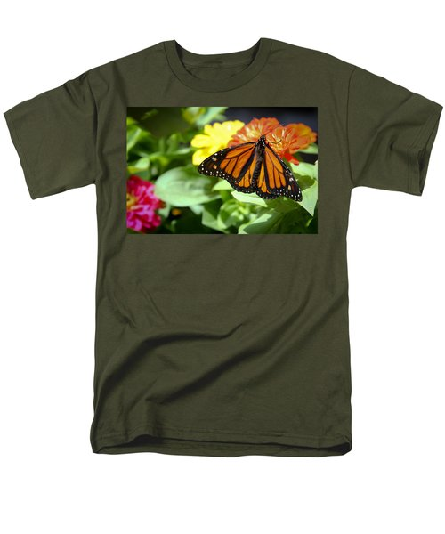 Men's T-Shirt  (Regular Fit) featuring the photograph Beautiful Monarch Butterfly by Patrice Zinck