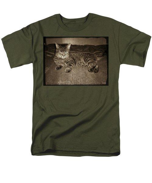 Men's T-Shirt  (Regular Fit) featuring the photograph Beautiful Tabby Cat by Absinthe Art By Michelle LeAnn Scott