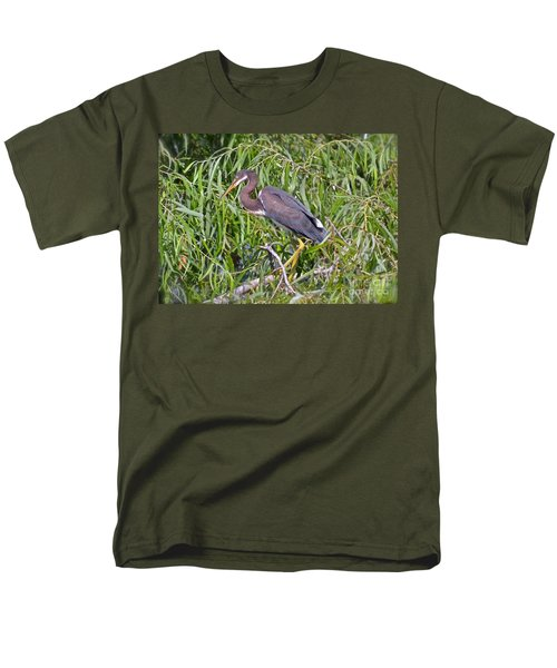 Men's T-Shirt  (Regular Fit) featuring the photograph Beautiful Tricolored Heron by Carol  Bradley