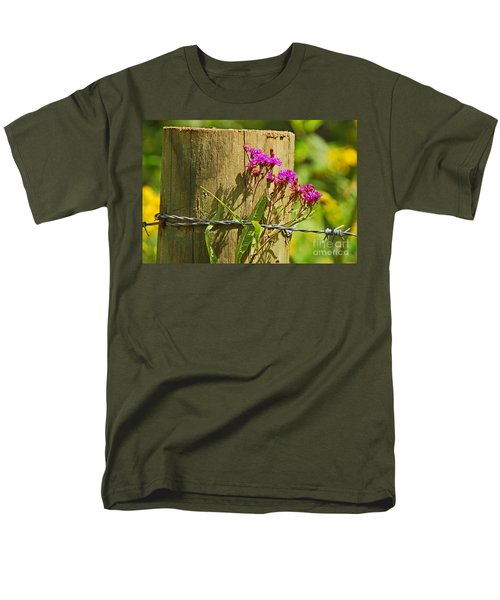 Behind The Fence Men's T-Shirt  (Regular Fit) by Mary Carol Story