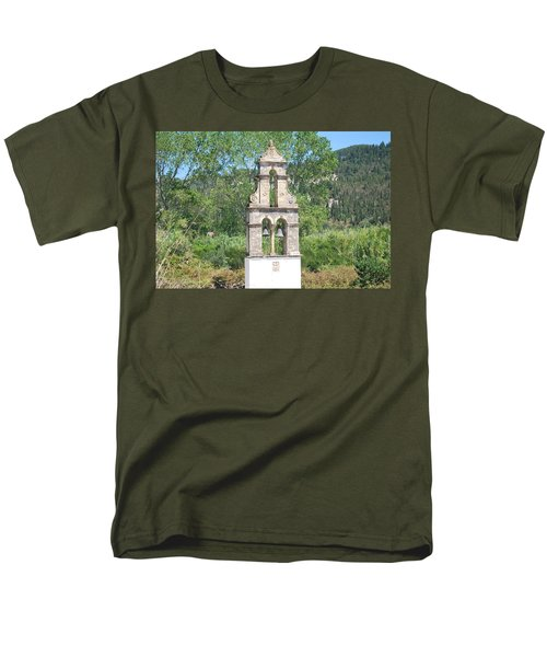 Men's T-Shirt  (Regular Fit) featuring the photograph Bell Tower 1584 1 by George Katechis