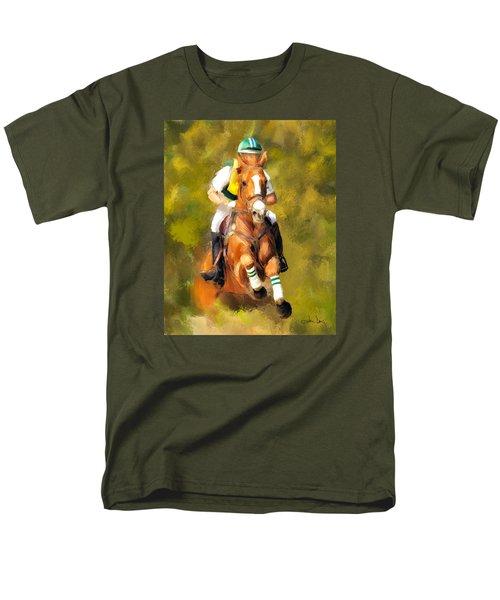 Men's T-Shirt  (Regular Fit) featuring the photograph Between The Flags by Joan Davis