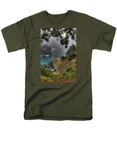 Big Sur Julia Pfeiffer State Park-1 Central California Coast Spring Early Afternoon Men's T-Shirt  (Regular Fit) by Michael Mazaika
