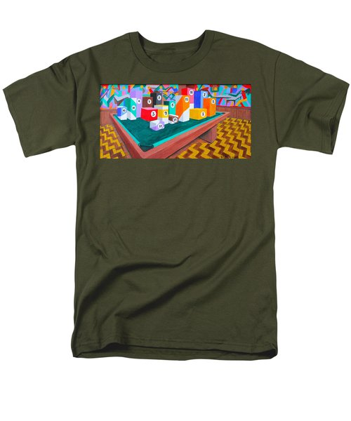 Men's T-Shirt  (Regular Fit) featuring the painting Billiard Table by Lorna Maza