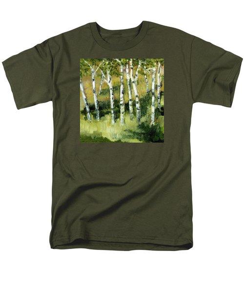 Birches On A Hill Men's T-Shirt  (Regular Fit) by Michelle Calkins