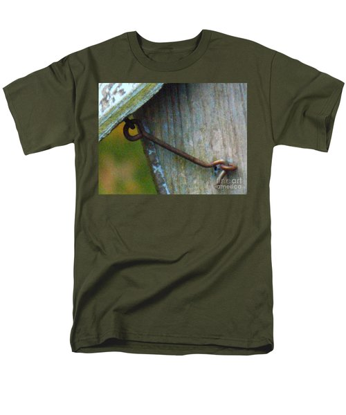 Bird Feeder Locked Memory Men's T-Shirt  (Regular Fit) by Brenda Brown