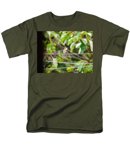 Men's T-Shirt  (Regular Fit) featuring the photograph Bird On A Wire by Nick Kirby